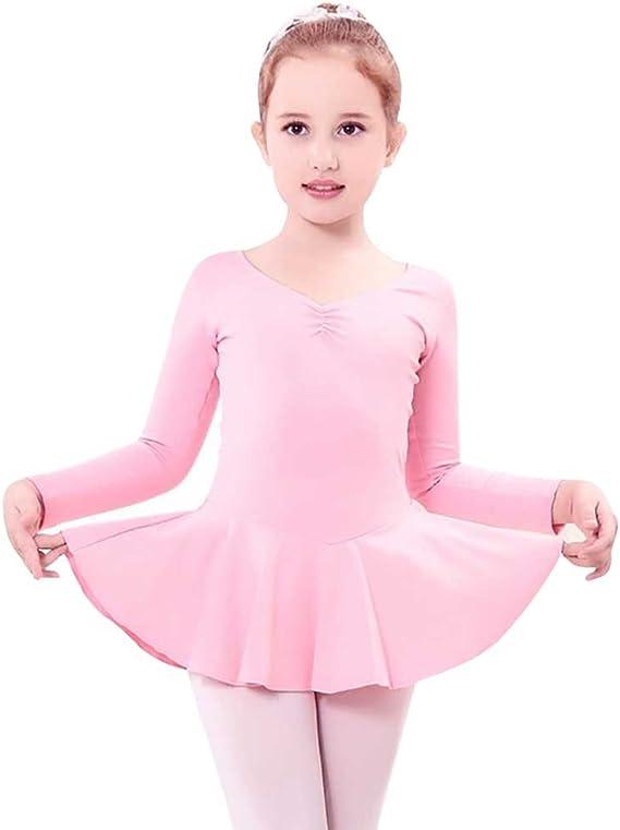 YouPue Niña Maillot Ropa Ballet Manga Larga Vestido Falda De ...