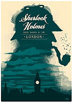 MOTIVATION4U Sherlock Holmes, a fictional private detective, film, TV series, Robert Downey Jr, Benedict Timothy Carlton Cumberbatch 12 X 18 inch poster