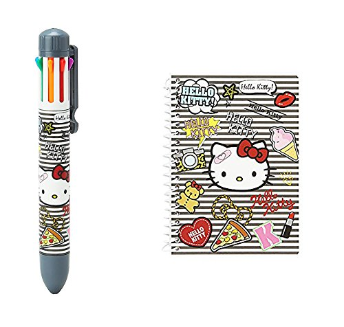 SANRIO Hello Kitty Fabulous Notepad & 8-color pen Set Patch Collection
