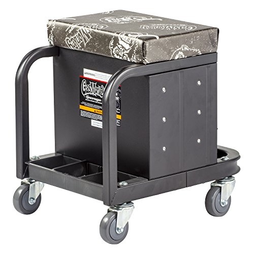 Gas Monkey Creeper Seat and Tool Box Combo - 3-Drawers Toolbox with 4 Rolling Casters - 450 Lbs Capacity by Gas Monkey (Image #3)