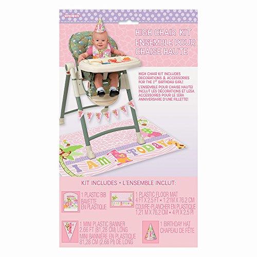 Pink Safari 1st Birthday High Chair Decorating Kit, (Safari First Birthday)