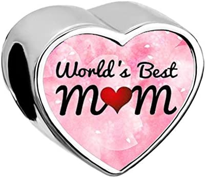 Mel Crouch Heart Love World S Best Mom Charms Love Mother Charms