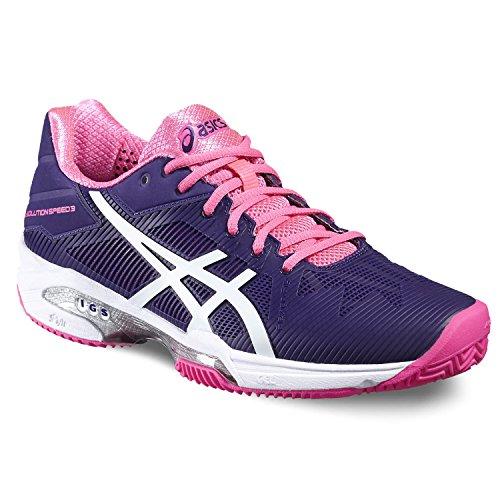 Asics–Gel-Solution Speed 3Clay–Zapatillas de tenis de la mujer (morado/rosa)–EU 42,5–US 10,5