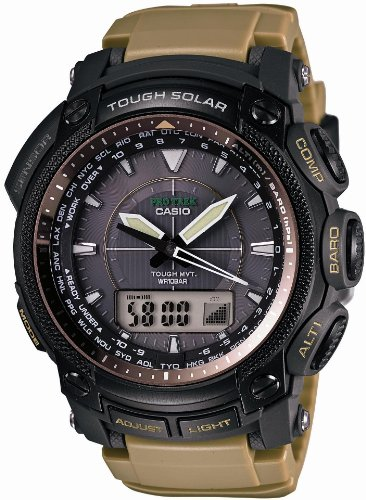 Casio Protrek Tough Movement Tough Solar Multiband6 Watch PRW-5050BN-5 ()