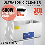 OrangeA Ultrasonic Cleaner Ultrasonic Cleaner Solution Heated Ultrasonic Cleaner 30L for Jewelry Watch Cleaning Industry Heated Heater with Drainage System (30 Liter)