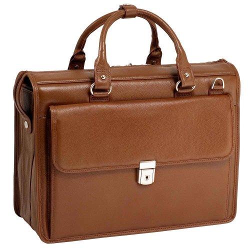 McKleinUSA GRESHAM 15974 Brown Leather Litigator Laptop Brief (Brown Computer Brief)