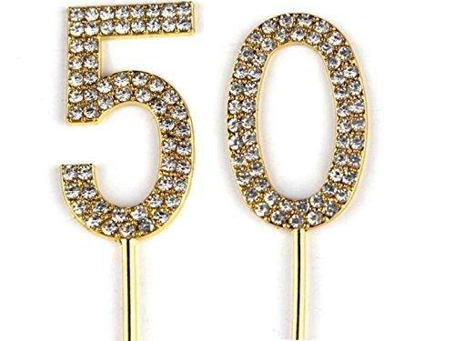 Decoración para tarta número 50 para 50 cumpleaños o ...