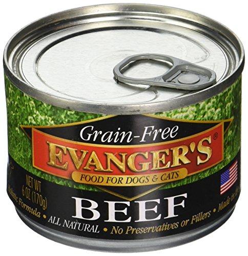 Evangers Grain Free 100 Beef Can Pet Food 24 Pack ()
