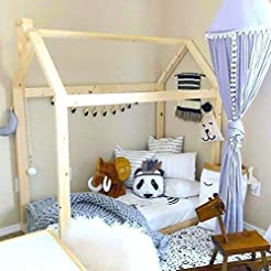 House Bed Frame Toddler Bed PREMIUM WOOD...