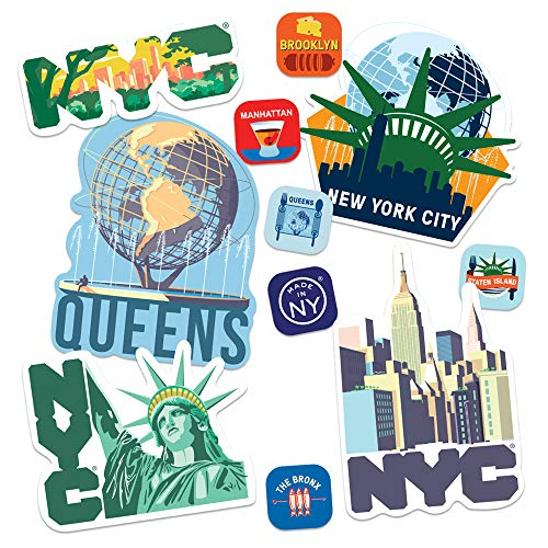Popfunk NYC New York City 5 Boroughs Collectible Stickers