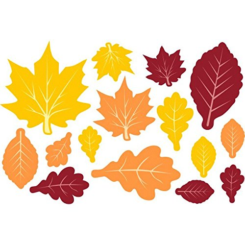 Thanksgiving Cut Out Decorations (Colors of Fall Thanksgiving Party Fall Leaves Cutouts Decoration, Paper, Pack of 30)