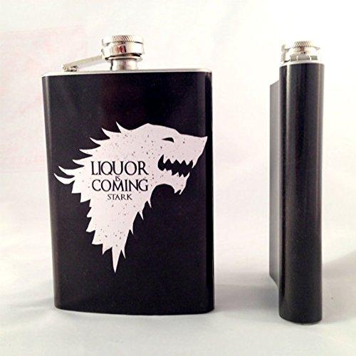 超可爱の Game House of Thrones Inspired House Stark Inspired Stark Liquor Is Comingフラスコ B016W7RHYG, TISSE:417a6205 --- preocuparse.me