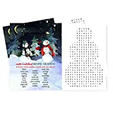 Snowman Christmas Party Word Games Set of 25 Cards