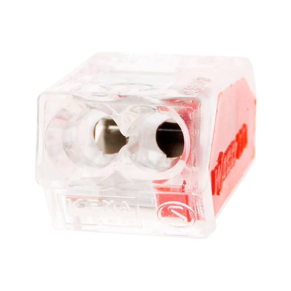 2 entr/ées Lot de 100 mini bornes de connexion rapide S273 pour fils rigides