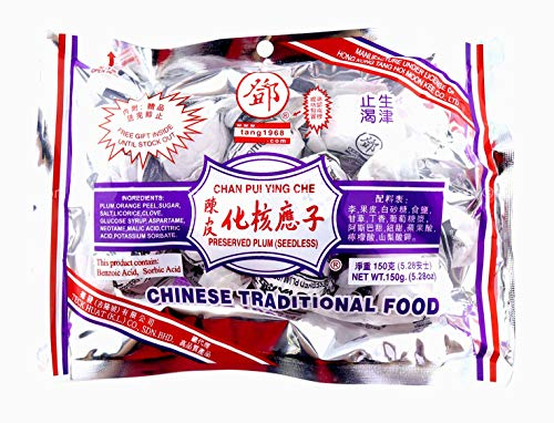 Dried Plum Fruit Candy - Chan Pui Ying Che - 10.5 Oz (300g) (Pack of 2)