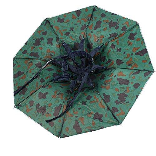 Amazon.com: eDealMax poliéster Modelo del camuflaje Pesca al aire Libre de Headwear del Sombrero de paraguas: Home & Kitchen