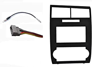 Radio Stereo Dash Install Double Din GPS Navigation Black Bezel Assembly Installation Fitted For Dodge Charger 2006 2007 Dodge Magnum 2005 2006 2007