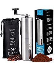 Zulay Kitchen Stainless Steel Manual Burr Adjustable Coffee Grinder