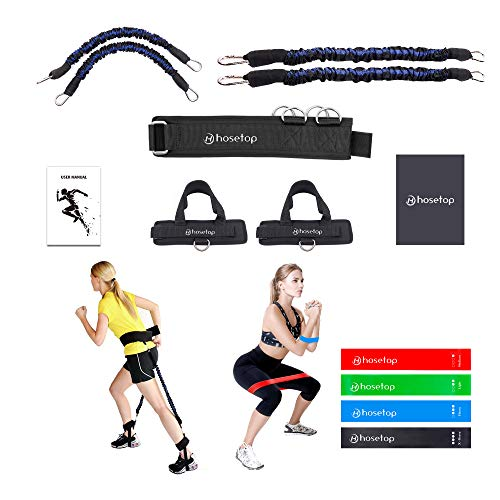 Vertical Jump Trainer, Booty Resistance Belt Bands, Resistance Bands for Legs and Butt, Leg Ankle Resistance Bands, Speed Agility Training Equipment, Kinetic Workout Bands , Strength Training Set