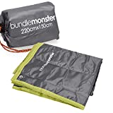 Bundle Monster Waterproof Picnic Beach Outdoor Large Camping Mat Pad Blanket with Draw String Carrying Tote – ASH GRAY
