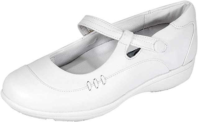 Wide Width Mary Jane Leather Shoes