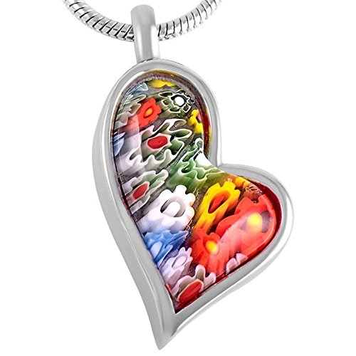 Murano Glass Seal - Murano Glass Teardrop Heart Cremation Jewelry Urn Necklace Ashes Holder Keepsake With Fill Kit