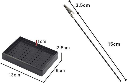 P Prettyia 10x Alligator Clip Support pour La Mod/élisation Support A/érographe Id/éal pour Utilisation dans Une Cabine de Peinture ou Au Bureau 13x9x2.5cm