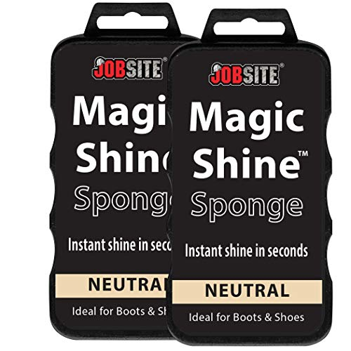 JOB SITE Instant Express Leather Boot & Shoe Shine Sponge - Neutral - 2 Pack]()