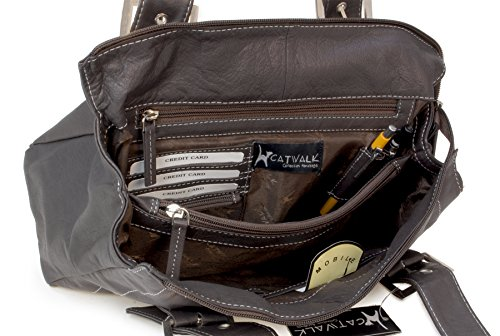 Catwalk Jane Leather Bag Collection Chocolate agqaYTr