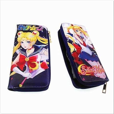 Sailor Moon - Cartera de Piel sintética Larga para Cosplay o ...