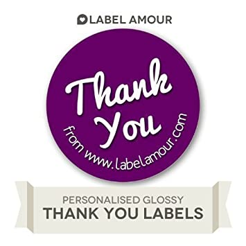 Label amour 40 personalised stickers labels thank you with address