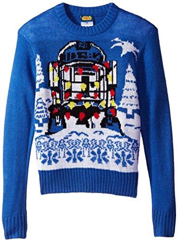Star Wars Boys' Holiday Sweater, Royal, Small