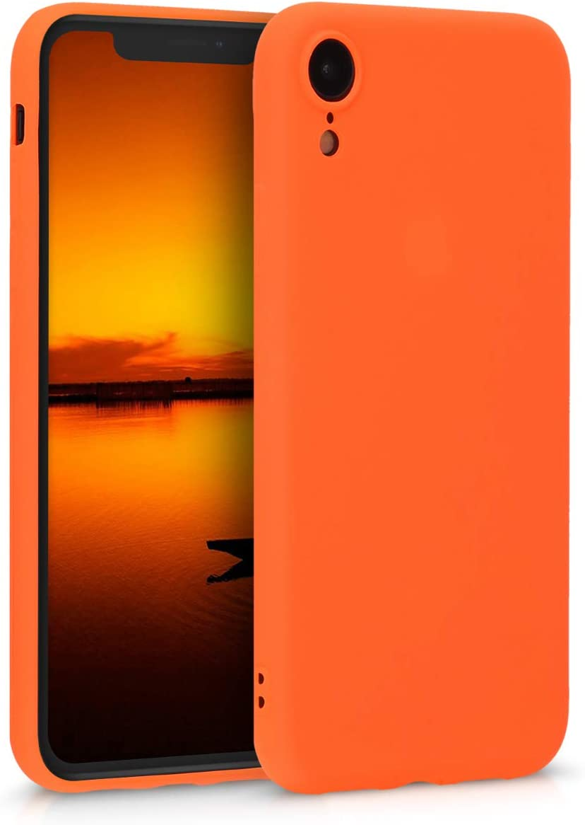Amazon Com Kwmobile Tpu Silicone Case Compatible With Apple Iphone Xr Soft Flexible Protective Phone Cover Neon Orange