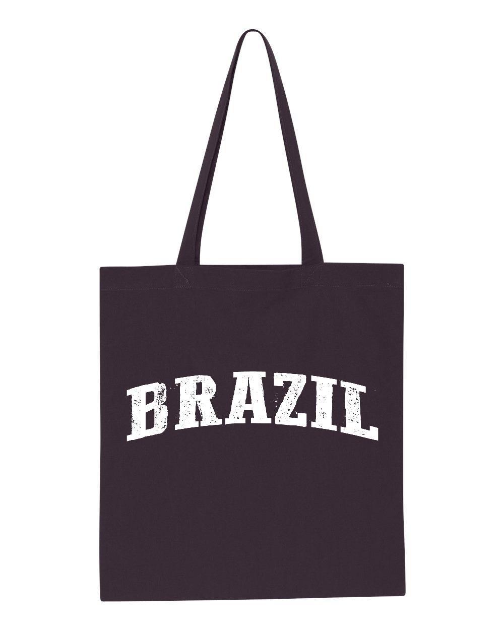 Ugo What To Do in Brazil Travel Deals Rio de Janeiro Map Brazilian Flag Gift Tote Handbags Bags Work School Travel by Ugo