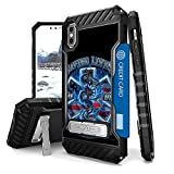 Iphone X Case, Trishield Durable Shockproof High Impact Rugged Armor Phone Cover With Detachable Lanyard Loop Card Slot Built In Kickstand For Iphone X - Saving Lives EMS