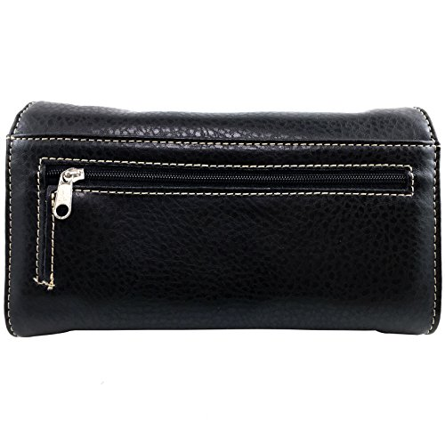 Crossbody Messenger Bag Wallet Black Handbag Carry Embroidery Floral Cowgirl Rhinestone Justin Concealed Cross Trifold Purse Wallet West Western Studded F6OqBwRgZx