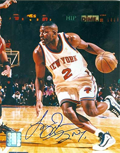 hot sale online 582d7 c8146 Larry Johnson autographed 8x10 Photo (New York Knicks 2x All ...