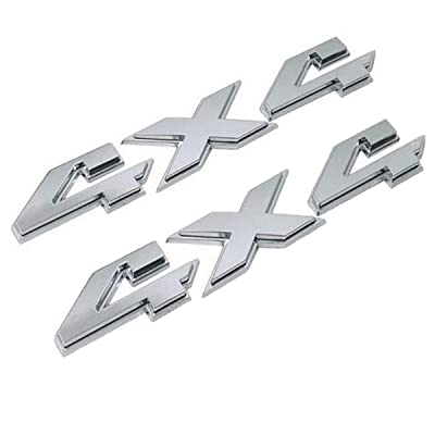TK-KLZ 2Pcs 3D ABS 4X4 Four-Wheel Drive Logo Premium Car Side Fender Rear Trunk Emblem Badge Sticker Decals for JEEP Dodge Mercedes BMW Mustang Volvo Chevrolet Nissan Audi VW Ford Honda Toyota Lexus: Automotive