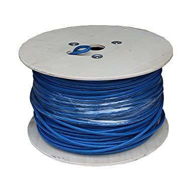 Cable Matters In-Wall Rated (CM) Cat6a Shielded (SSTP/SFTP) Ethernet Cable in Blue 1000 Feet