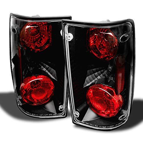 1994 Toyota Light Truck - For Toyota Pickup Truck Black Bezel Rear Tail Lights Brake Driver/Passenger Lamps Pair