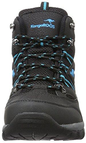 Schwarz Trekking Damen amp; Black Outdoor 8090 Scubablue KangaROOS Wanderstiefel K qwvg0qT