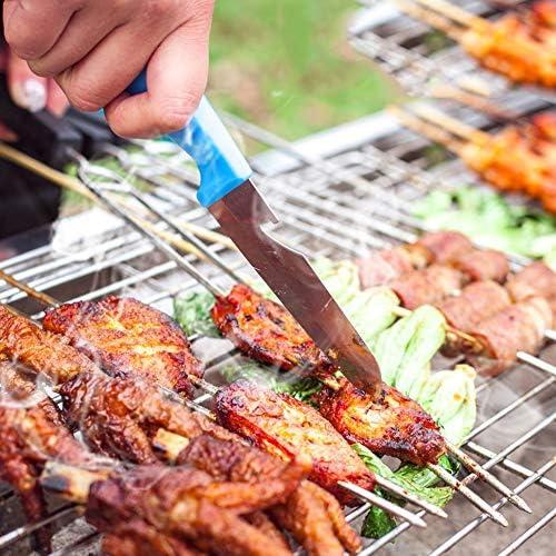Byx- Gril d'extérieur - 2-3 Personnes 5 poêle Pliant ménage Petit Barbecue en Acier Inoxydable -Barbecue