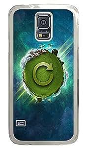 Samsung Galaxy S5 Green Earth PC Custom Samsung Galaxy S5 Case Cover Transparent