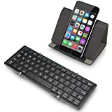 EC Technology Hard Case Cover for Bluetooth Keyboard with Stand / Multiple Functions - Black