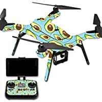 MightySkins Protective Vinyl Skin Decal for 3DR Solo Drone Quadcopter wrap cover sticker skins Blue Avocados
