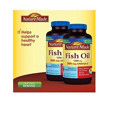 Nature Made Fish OIL 1200 Mg, 360 Mg Omega-3: 400 Liquid Softgels by Nature Made (Nature's Best Omega 3 Fish Oil)