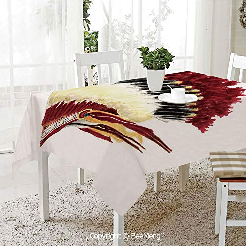 Beemeng Large Dustproof Waterproof Tablecloth Family Table