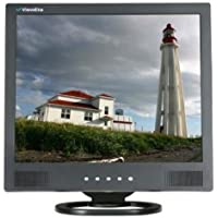 ViewEra V172SV-B LCD Video Monitor, Black, 17 Diagonal Screen Size, Maximum Resolution 1280x1024, Brightness 250 cd/m2, Contrast Ratio 1000:1, Response Time 5ms, Built-in Speakers 3W x 2