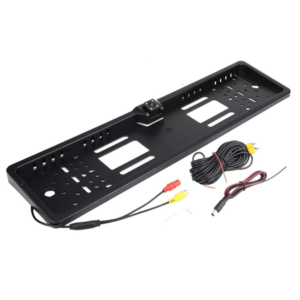 KIMISS Nummernschild mit Kamera B Kfz Kennzeichenhalter mit 140 /° Full HD R/ückfahrkamera IP67 Wasserdicht mit Infrarot IR Unterst/ützung Nachtsichtmodus