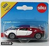ware 1305 - Bugatti Veyron Sports Car White & Red, Diecast Car Model Toys NEW Siku 1305